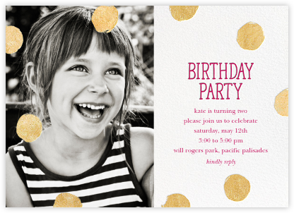 First Birthday And Baby Birthday Invitations Online At Paperless - Birthday invitation for baby