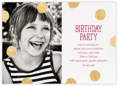 Big Dot Birthday (Photo) - Dragonfruit - Sugar Paper - Online Kids' Birthday Invitations