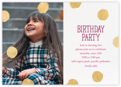 Big Dot Birthday (Photo) - Dragonfruit - Sugar Paper - First Birthday Invitations
