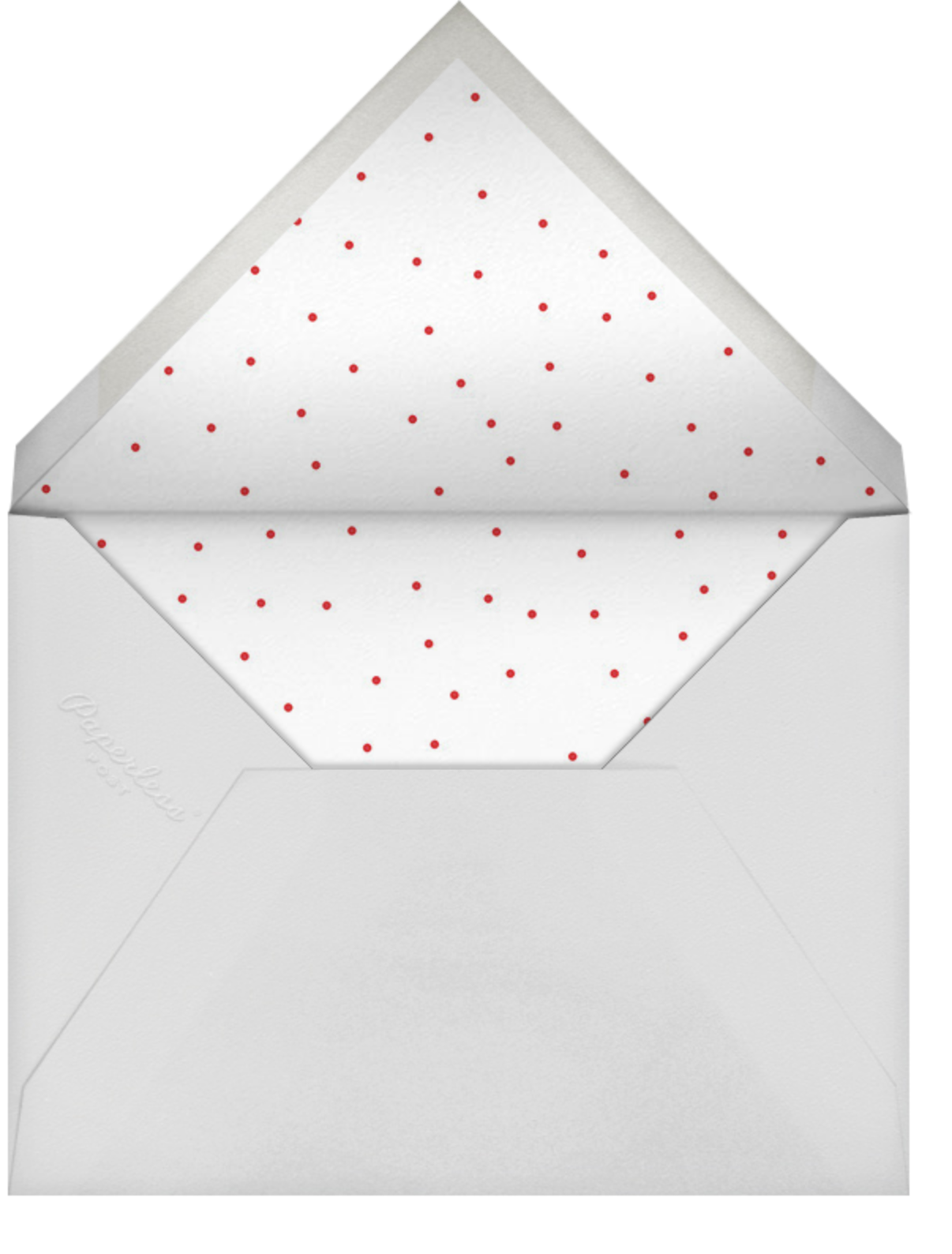 Best Time of the Year - Red - Sugar Paper - Winter entertaining - envelope back