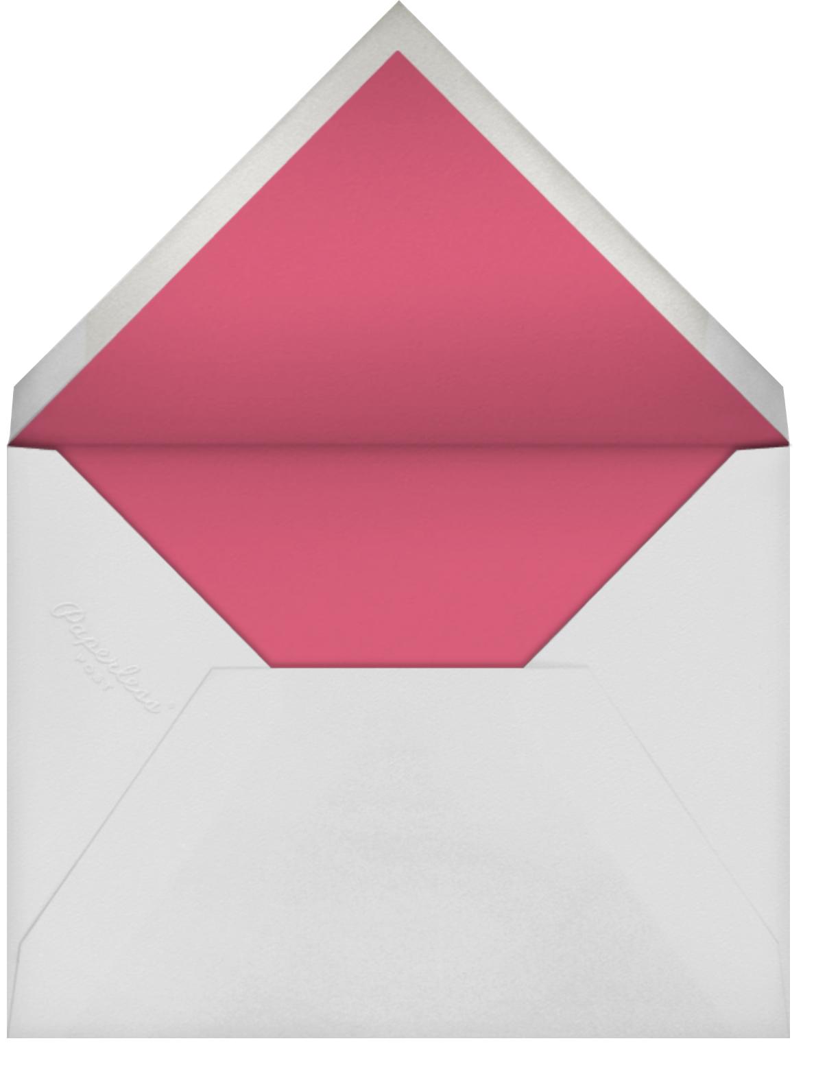 Birthday Stars - Rhubarb/Silver - Sugar Paper - Kids' birthday - envelope back