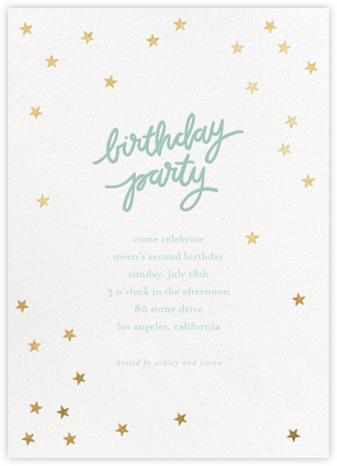 Birthday Stars - Blue/Gold - Sugar Paper -