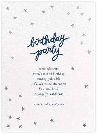 Birthday Stars - Dark Blue/Silver - Sugar Paper -