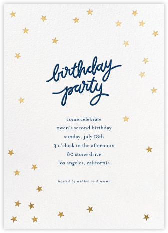 Birthday Stars - Dark Blue/Gold - Sugar Paper