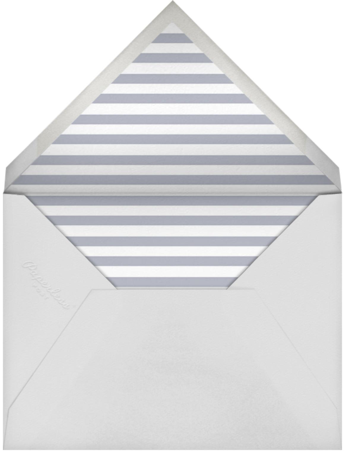 Luminous Heart - White/Rose Gold - Sugar Paper - Baby shower - envelope back