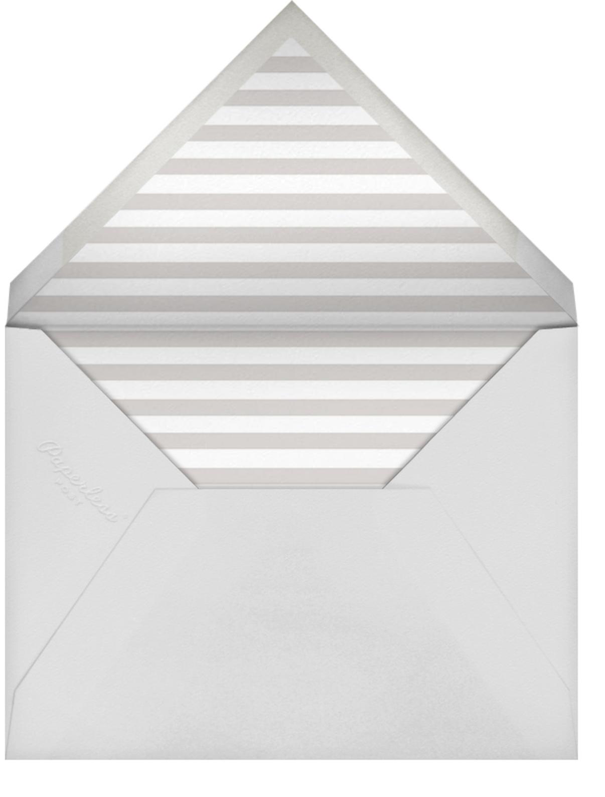 Luminous Heart - Pacific/Gold - Sugar Paper - Baby shower - envelope back