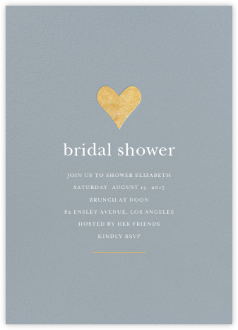Luminous Heart - Pacific/Gold - Sugar Paper - Bridal shower invitations