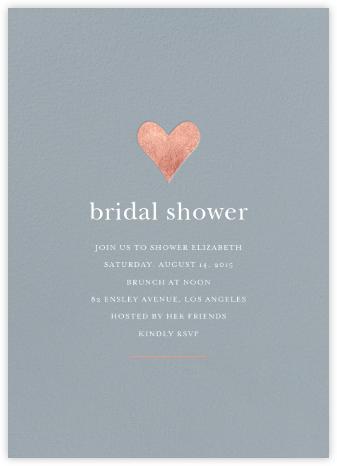 Luminous Heart - Pacific/Rose Gold - Sugar Paper - Bridal shower invitations