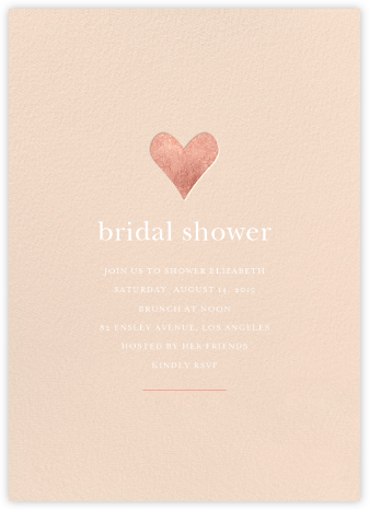Luminous Heart - Pink/Rose Gold - Sugar Paper - Bridal shower invitations