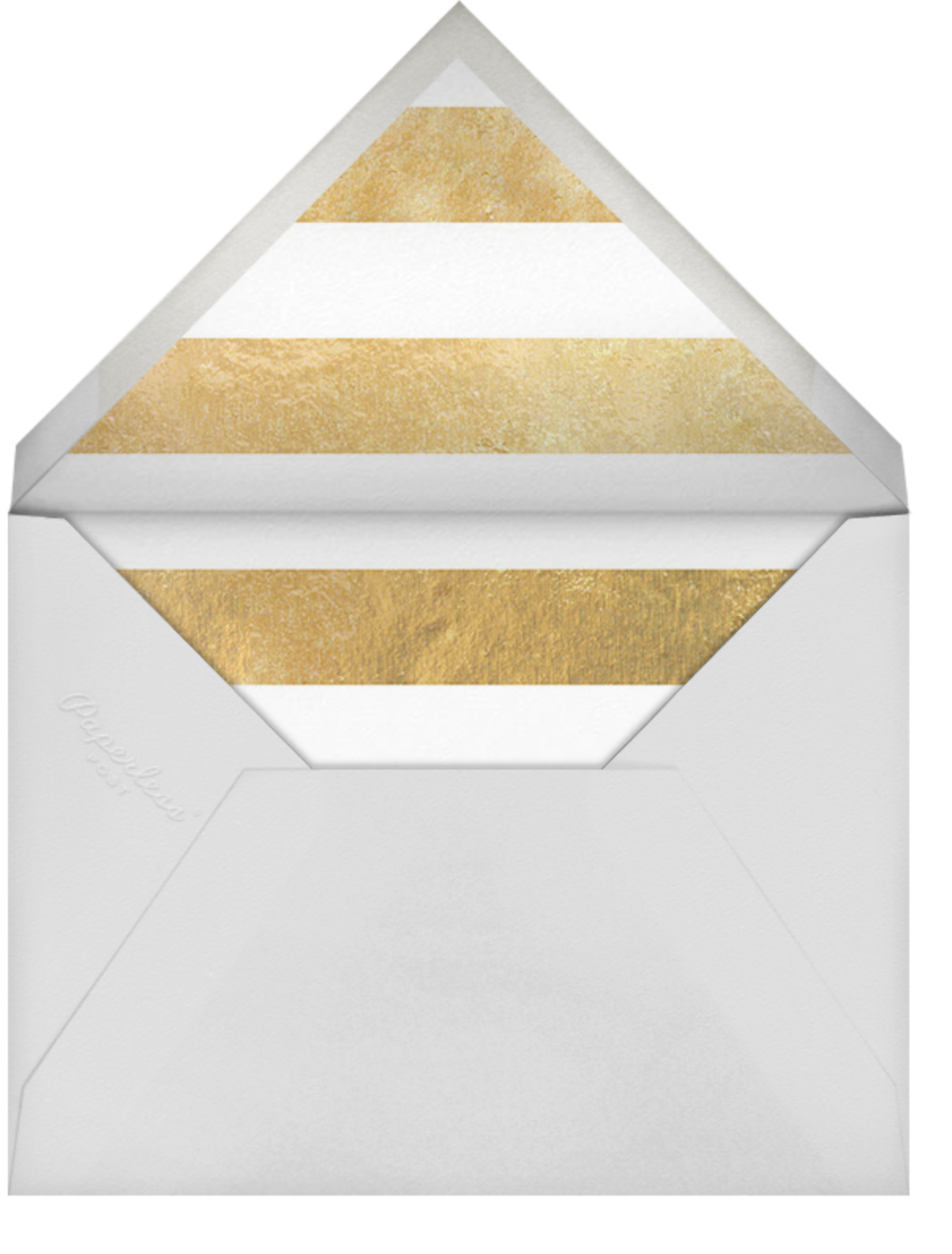 Luminous Heart - White/Gold - Sugar Paper - Bridal shower - envelope back