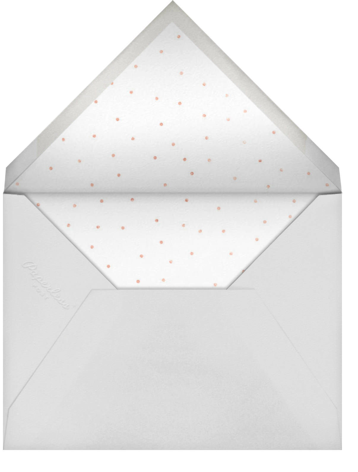 Luminous Heart - Pink/Rose Gold - Sugar Paper - Kids' birthday - envelope back