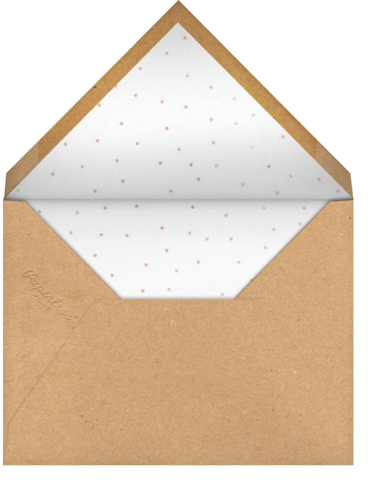 Luminous Heart - Kraft/Rose Gold - Sugar Paper - Kids' birthday - envelope back