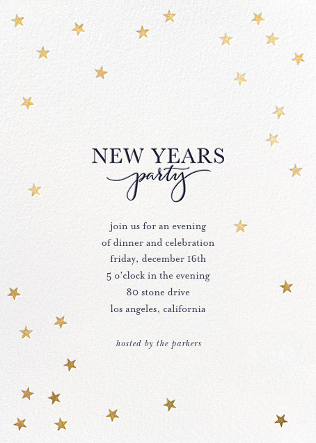 Starry New Year - White/Gold - Sugar Paper - New Year's Eve