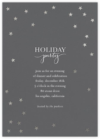 Starry Holiday - Charcoal/Silver - Sugar Paper -