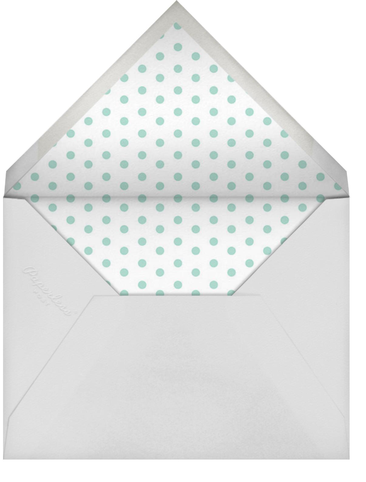 Cabana Birthday - Dark Blue - Sugar Paper - Kids' birthday - envelope back