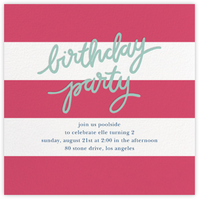 Cabana Birthday - Rhubarb - Sugar Paper -