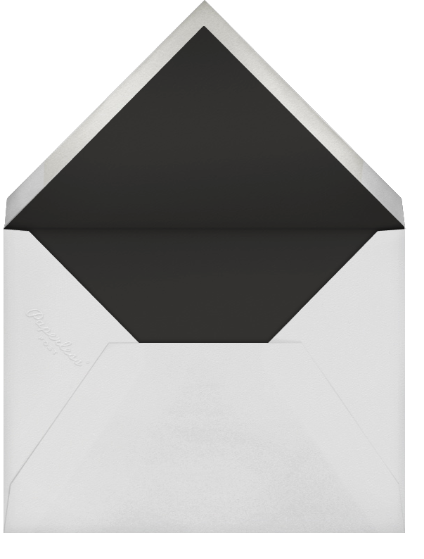 Painted Stripes - Black - Sugar Paper - Adult birthday - envelope back