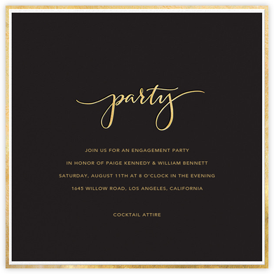 Fine Band Party - Black - Sugar Paper - Engagement party invitations