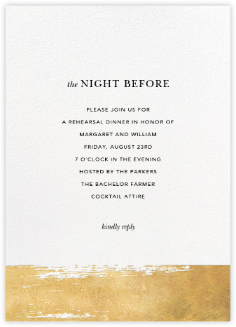 Simple Brushstroke - Sugar Paper - Wedding Weekend Invitations