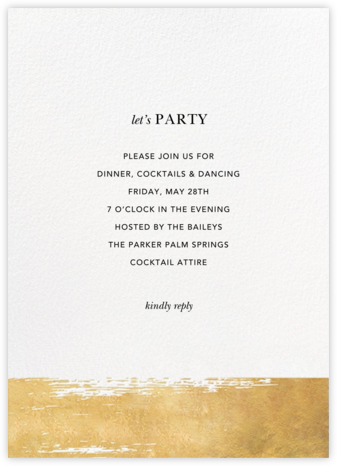 Simple Brushstroke - Sugar Paper - Winter Party Invitations