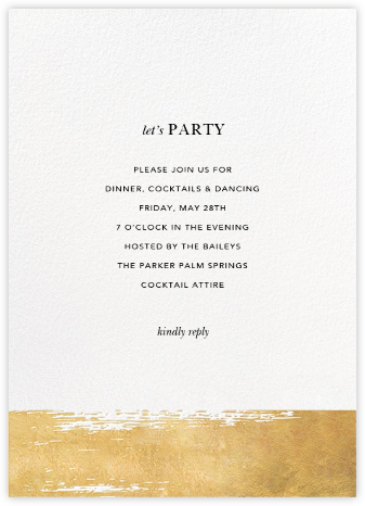 Dinner party invitations online at paperless post simple brushstroke stopboris Images