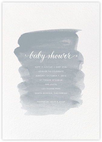 Baby Brushstroke - Pacific - Sugar Paper - Baby Shower Invitations