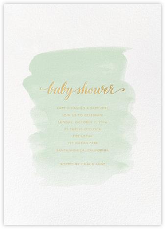 Baby Brushstroke - Mint - Sugar Paper - Sugar Paper