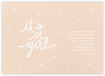 On Her Way - Sugar Paper - Baby Shower Invitations