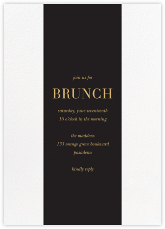 Classic Stripe - Black - Sugar Paper - Brunch invitations