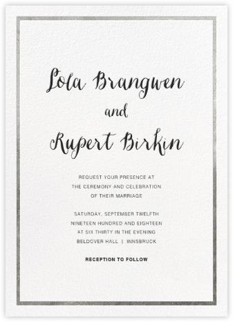 Idylle (Invitation) - White/Silver - Paperless Post - Wedding invitations