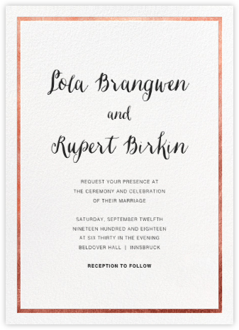 Idylle (Invitation) - White/Rose Gold - Paperless Post -