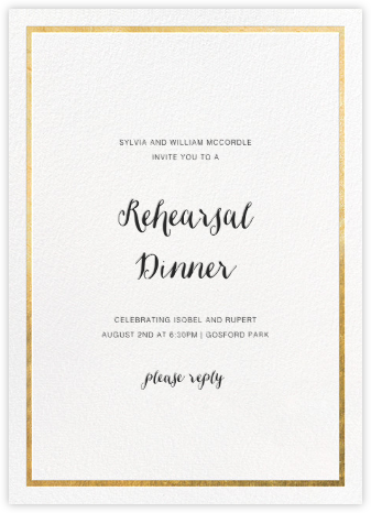 Idylle - White/Gold - Paperless Post - Wedding Weekend Invitations