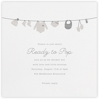 Onesie - Gray - Paperless Post - Baby Shower Invitations
