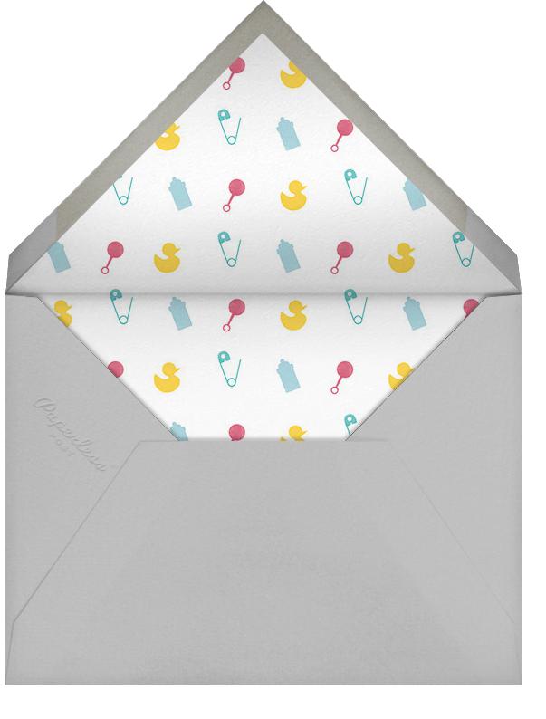 Onesie Photo (Photo) - Gray - Paperless Post - Birth - envelope back
