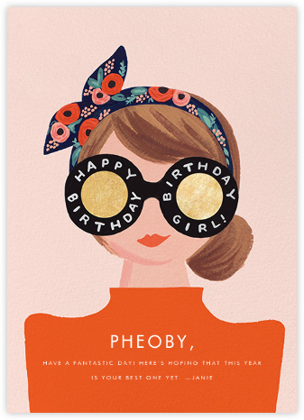 Birthday Shades - Fair - Rifle Paper Co. - Online Greeting Cards