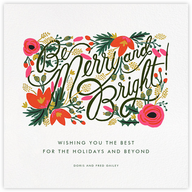 Merry, Bright, and Blooming - Rifle Paper Co. - Christmas Cards