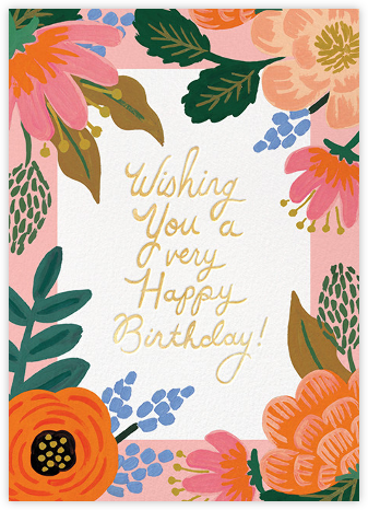 Bordeaux Birthday - Rifle Paper Co. - Online Cards