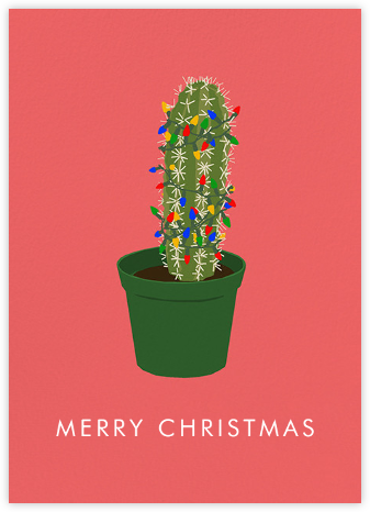 Christmas Cactus - Hannah Berman - Online greeting cards