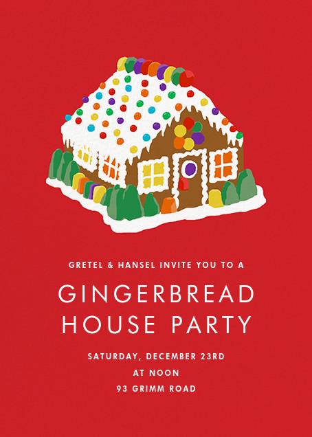 Gingerbread Estate - Hannah Berman - Holiday party invitations