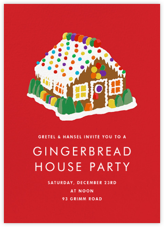 Gingerbread Estate - Hannah Berman - Holiday party invitations