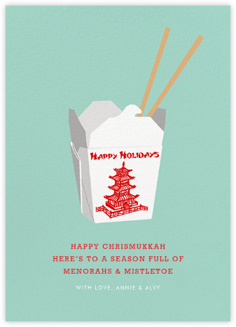 Holiday Take-Out (Greeting) - Hannah Berman - Holiday cards