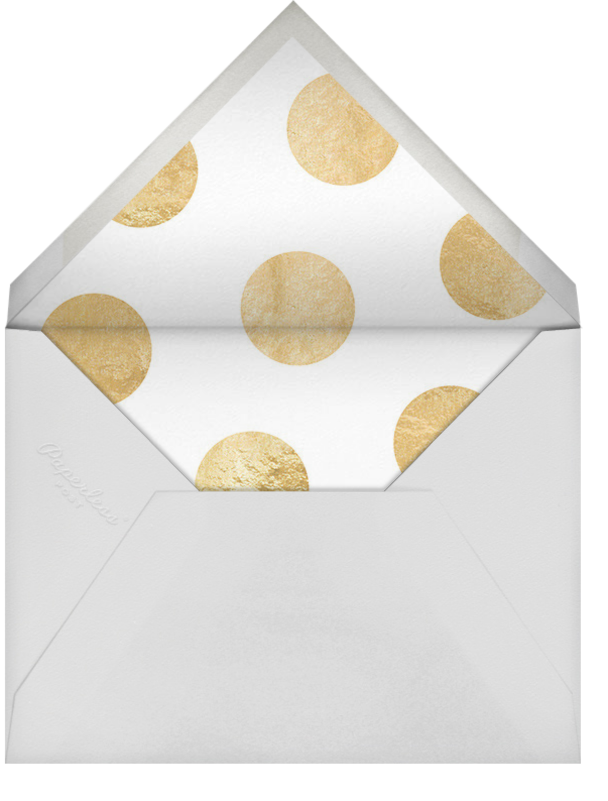 The Big One - Gold - Sugar Paper - 50th birthday invitations - envelope back