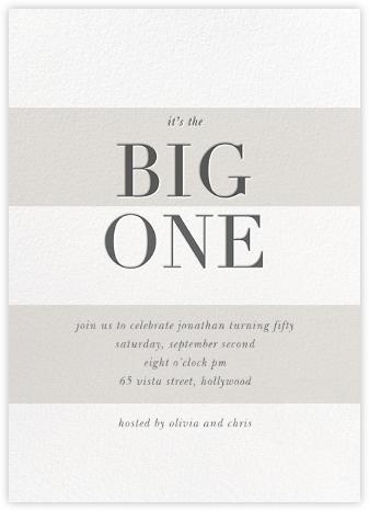 The Big One - Charcoal - Sugar Paper -