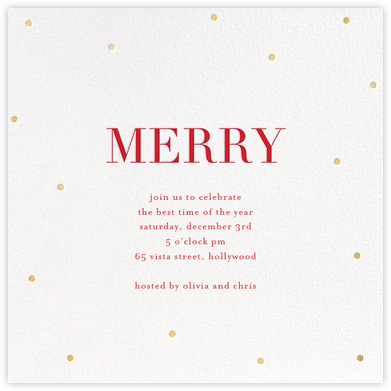 Merry Dots - White/Gold - Sugar Paper - Sugar Paper