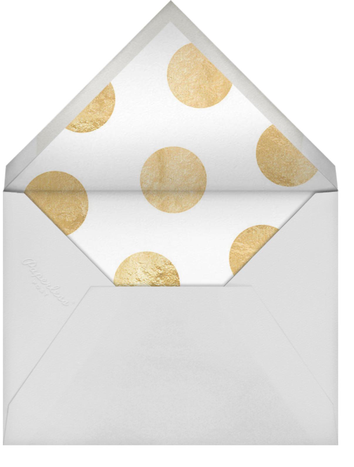 Celebration Dots - Charcoal/Gold - Sugar Paper - Hanukkah - envelope back