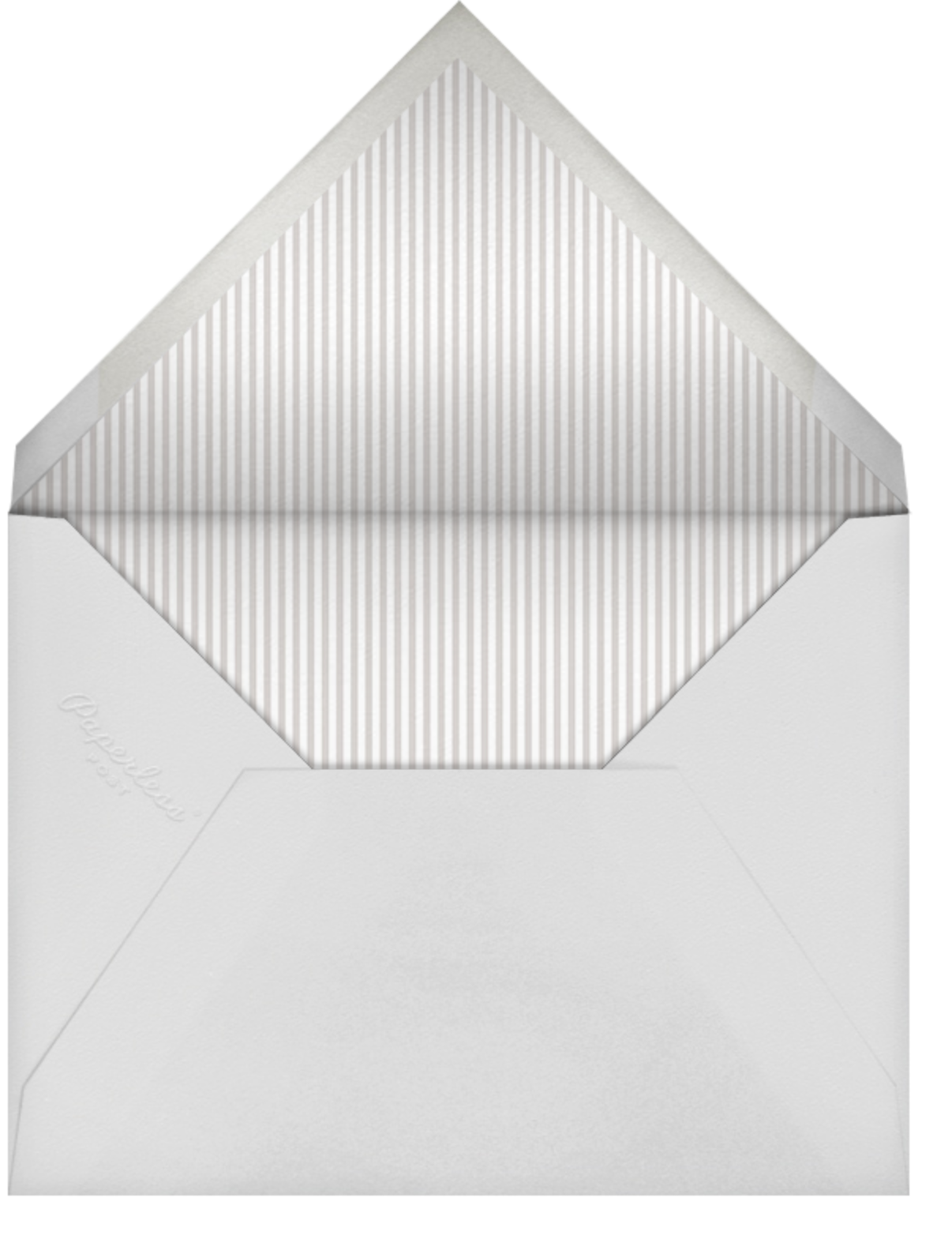 Celebration Dots - Gray/Gold - Sugar Paper - Anniversary party - envelope back