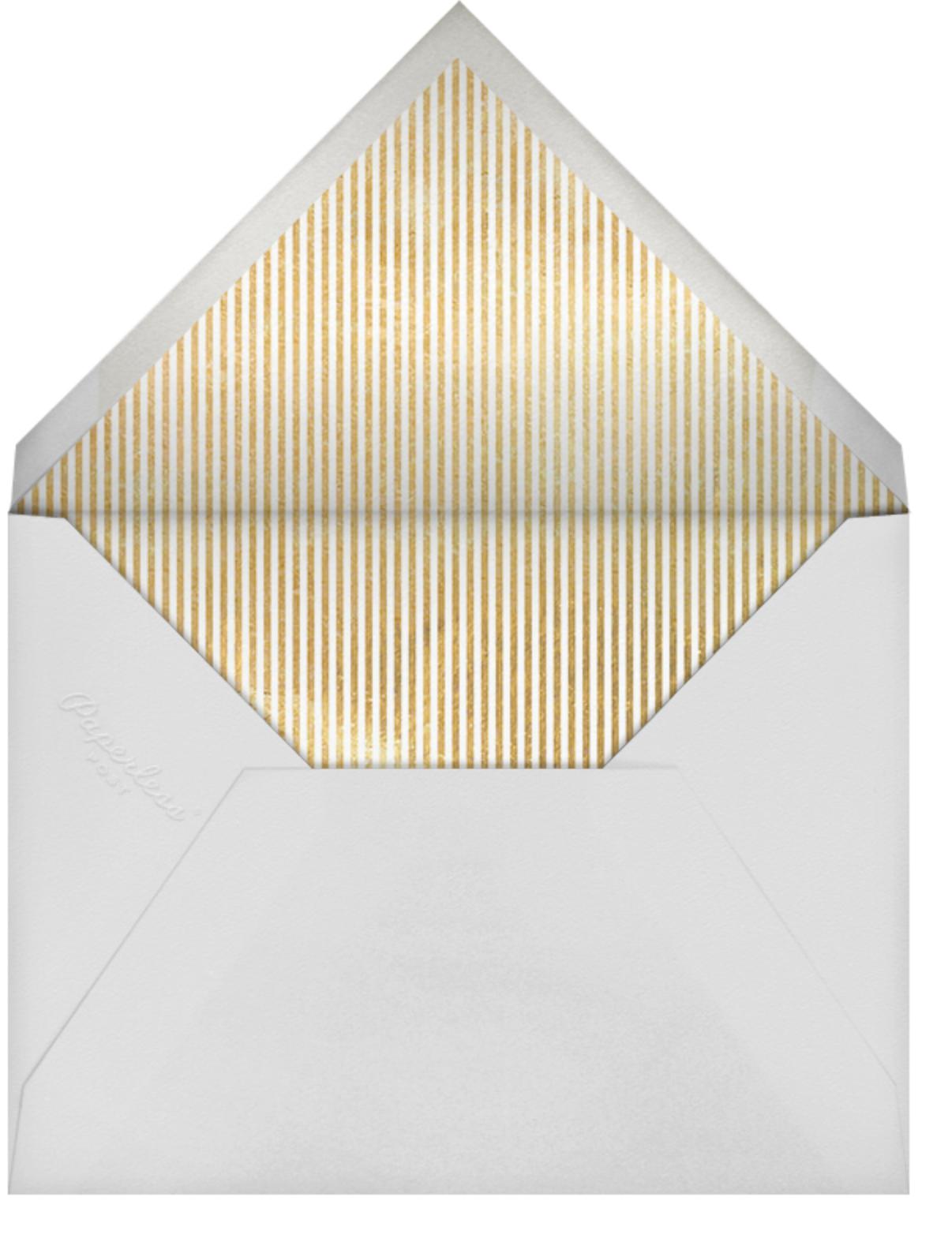 Milestone Dots (Thirty) - Gray - Sugar Paper - Adult birthday - envelope back