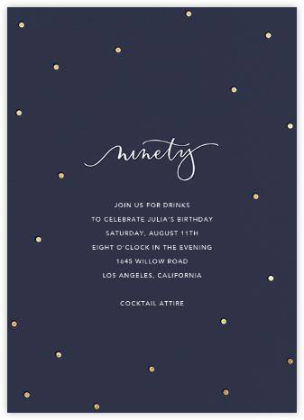 Milestone Dots (Ninety) - Navy - Sugar Paper -
