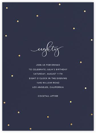 Milestone Dots (Eighty) - Navy - Sugar Paper