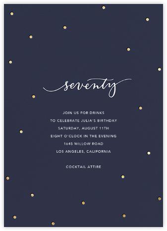 Milestone Dots (Seventy) - Navy - Sugar Paper -